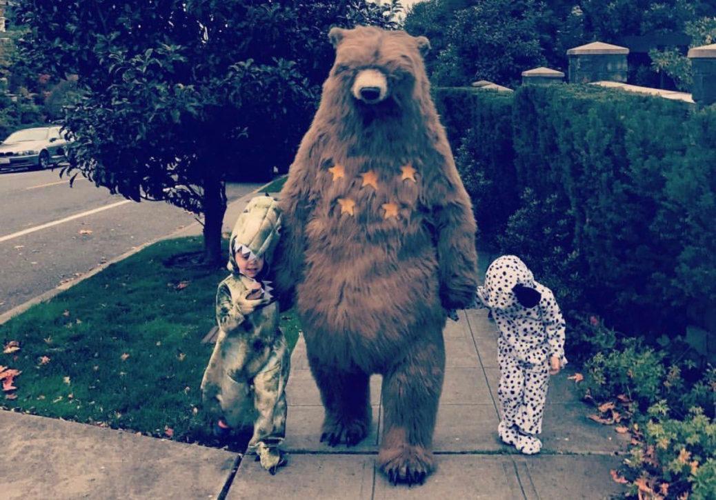 Dara and his boys on Halloween